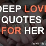 Top 25 Deep Love Quotes For Her with Images
