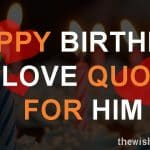 Top 16 Happy Birthday My Love Quotes For Him with Images