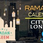 Ramadan 2020 Calendar City Of London: Sehar & Iftar Time