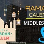 Ramadan 2020 Calendar Middlesbrough: Sehar & Iftar Time
