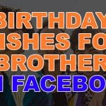 Top 27 Happy Birthday Wishes For Brother On Facebook Quotes, Status & Sms