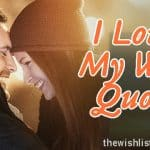 Top 30 I Love My Wife Quotes, Sms, & Images