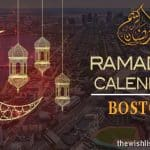 Ramadan 2020 Calendar Boston: Sehar & Iftar Time